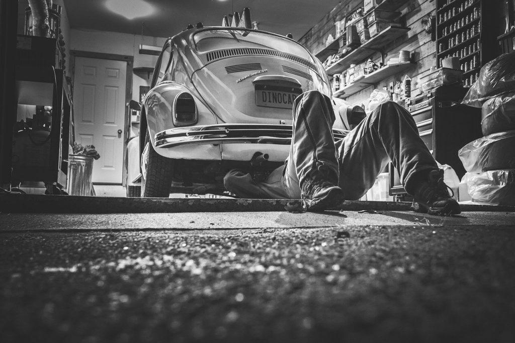 Werkstatt Auto Reparatur Industrieboden