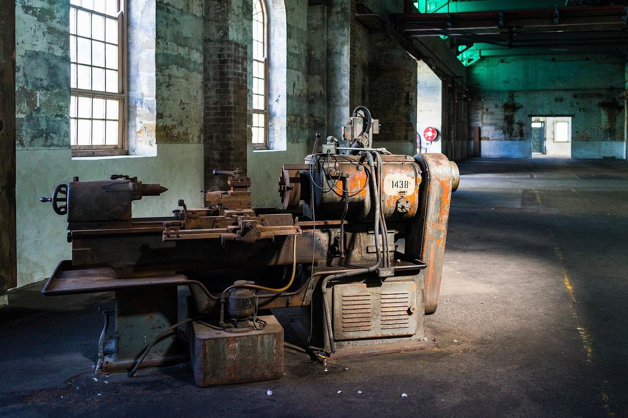 Werkstatt Werkstattboden Maschine Industrie