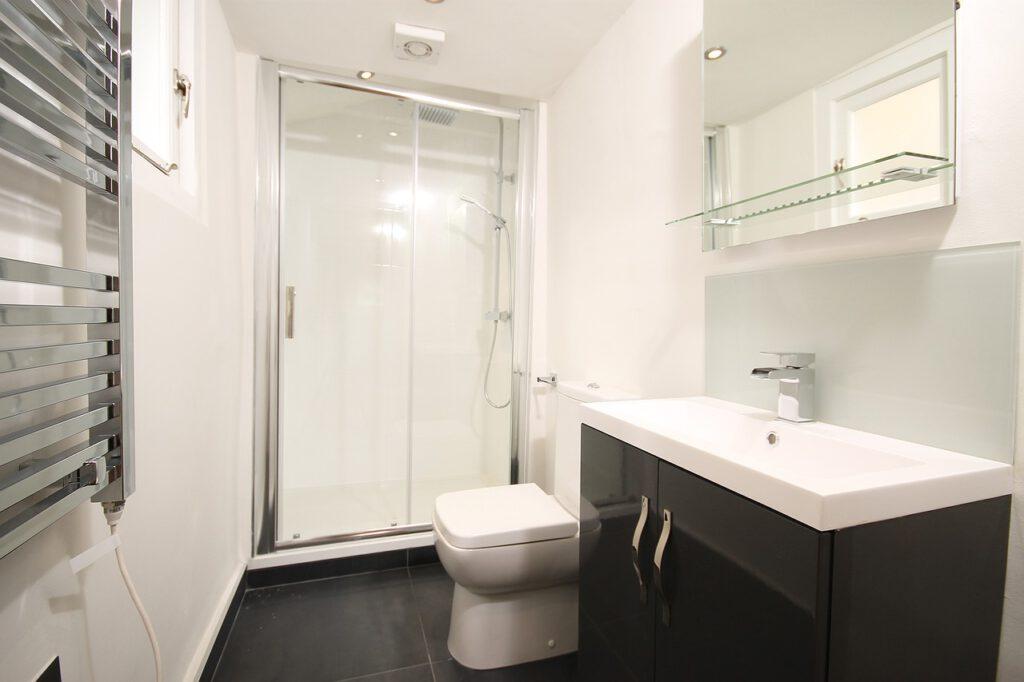 Ansicht sauberes Badezimmer